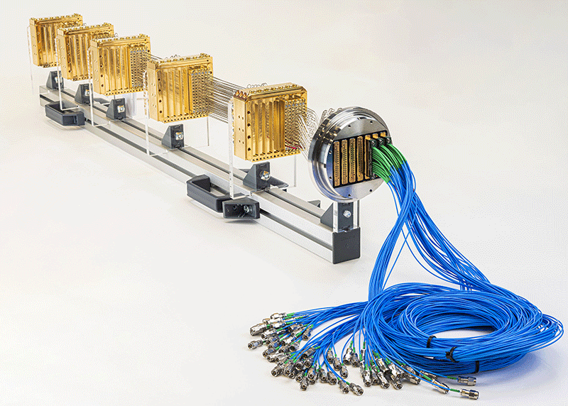 Bluefors high-density wiring