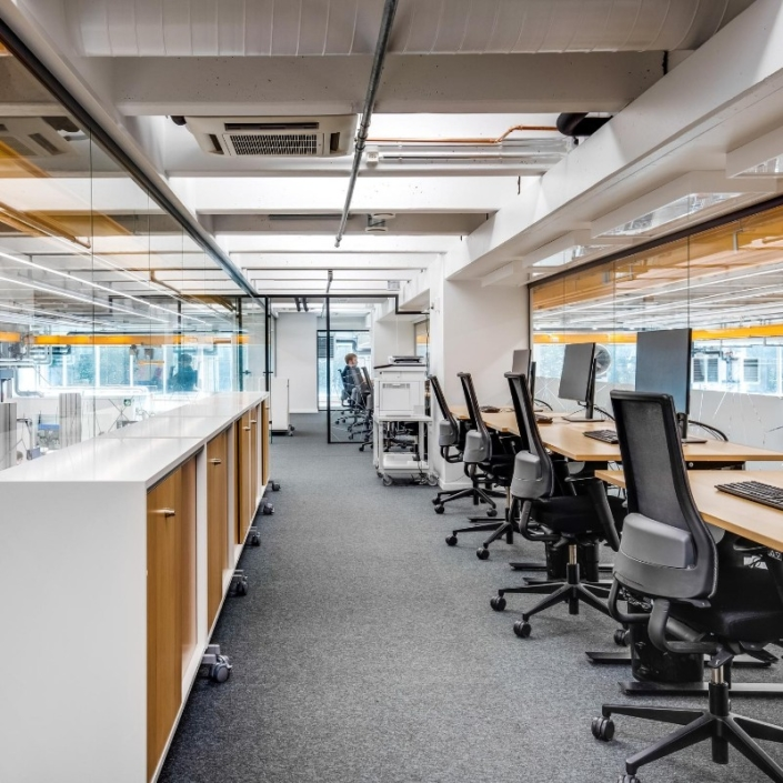 Bluefors factory 2020 design by Agile Work photo by Santeri Sarkola